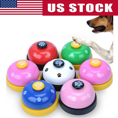 US Pet Puppy Dog Cat Training Bell Meal Bell Potty Training Communication Device