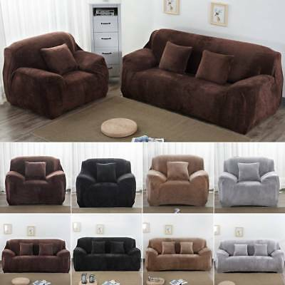 Easy Fit Colorful Thick Plush Velvet Couch Cover Stretch Sofa Cover Slipcover
