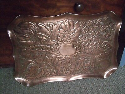 Antique Large Arts & Crafts Copper Tray/Charger