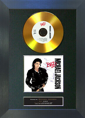 GOLD DISC MICHAEL JACKSON Bad Signed Autograph Mounted Print A4 104