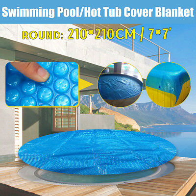 7'  Round Spa Hot Tub Swimming Pool Cover 400μm Solar Bubble Thermal Blanket