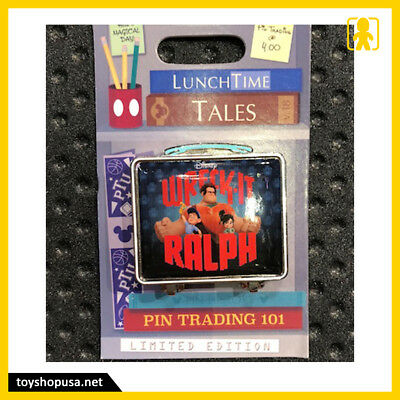 Disney Parks Lunch Time Tales Wreck-It Ralph Pin Trading 101 Pin LE In Hand