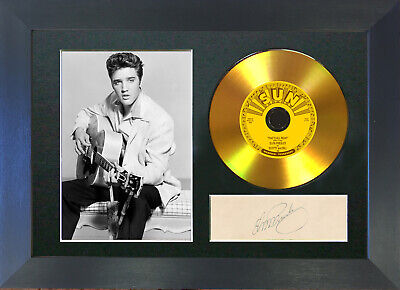 GOLD DISC ELVIS PRESLEY That's All Right Signed Autograph Mounted Print A4 131