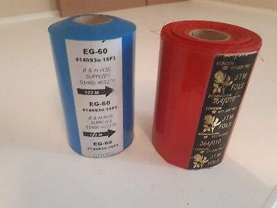 Pigment Red & Blue Hot Foil Stamping  Blocking 1000mm x 122m approx