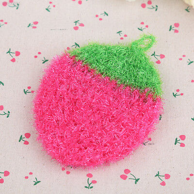 44D8 Acrylic Stawberry Dishcloths Nylon Fiber cleaning for Kitchen hot  selling