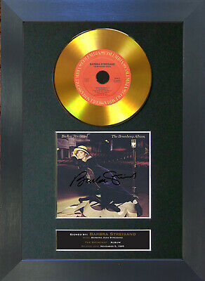 GOLD DISC BARBRA STREISAND The Broadway Signed Autograph Mounted Print A4 149