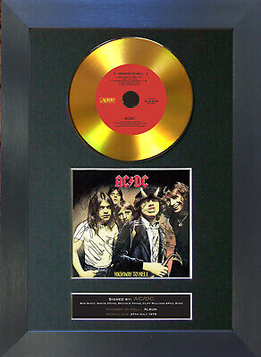 GOLD DISC ACDC Highway To Hell Signed Autograph Mounted Print A4 150