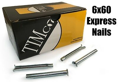 TIMco 6 x 60mm Express Nails Anchor Masonry Brick Timber Frames Box of 100