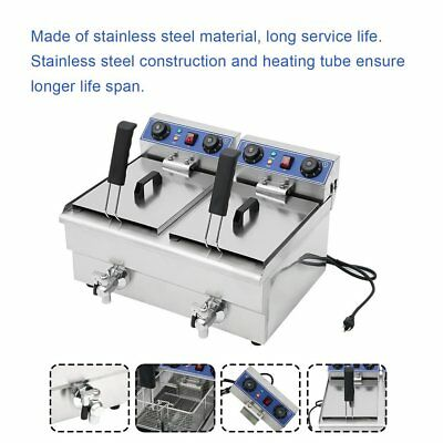 23.4L 3KW Stainless Steel Commercial Restaurant Electric Deep Fryer With Timer V