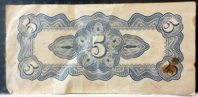 Japanese Five cent Bank note Circulated