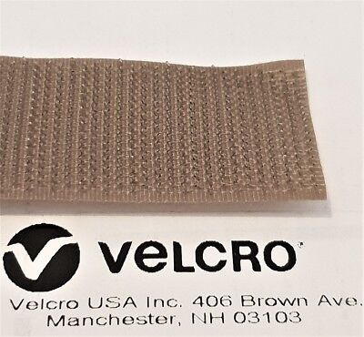 """SEW-ON VELCRO 1"""" / 25mm FASTENER """"HOOK""""  498 COYOTE BROWN MILSPEC MADE IN USA"""