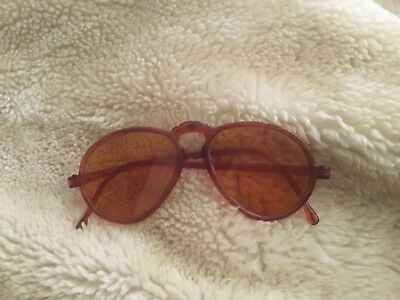 Vintage 1920s 1930s rare original adult Pair of Sunglasses orange Lenses