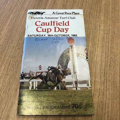 1982 Caulfield  Cup - Racecall book - Greg Miles Collection