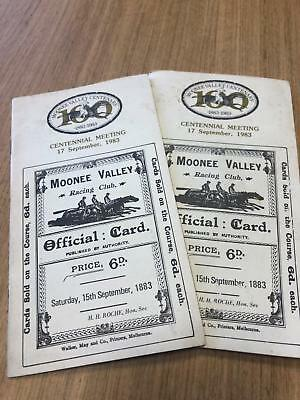 1983 Moonee Valley Centenary meeting - Racecall book - Greg Miles Collection