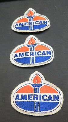 Lot of 3 Vintage Amoco Oil American Torch Patches