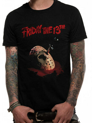 Friday The 13th Dagger Jason Voorhees Hockey Mask Official Black Mens T-shirt