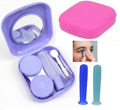 Suction Contact Lens Holder & Kit Soft & Hard / Solid & Hollow Inserter Remover