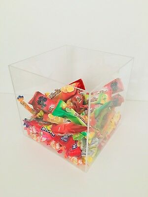 Acrylic Cube Display stand Square 5 Sided Box Perspex shop Counter top holder