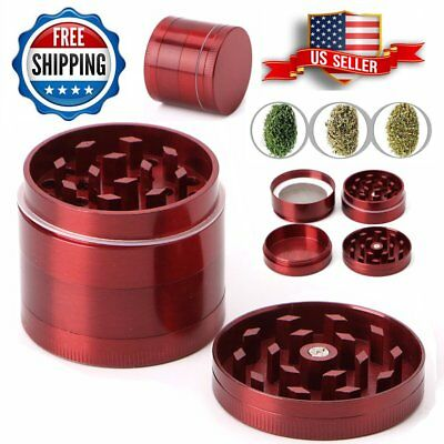 Tobacco Herb Spice Grinder 4Piece Herbal Alloy Smoke Metal Hand Chromium Crusher