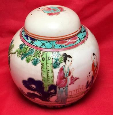 Late Qing / Republic Chinese Famille Rose Porcelain Ginger Jar Perfect Condition