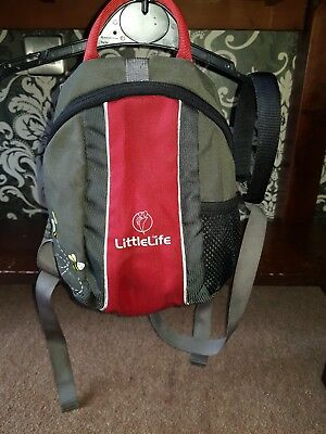 Grey And Red Little Life Backpack Reins