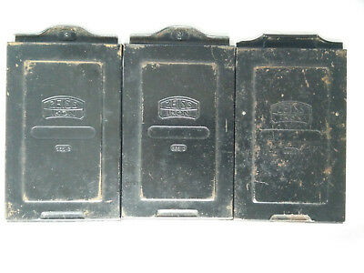 Lot of 3 Vintage Zeiss Ikon Plate Film Holders, 2x 665/2 & 1x 665/3