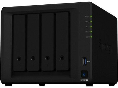 Synology 4 bay NAS DiskStation DS918+ (Diskless)4-bay; 4GB DDR3L New in Box