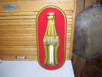 "16"" Embossed Bottle Dec.25,1923 Coca-Cola Thermometer- Never Used -Mint!!"