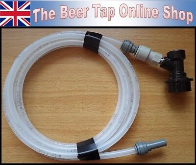 Flexible 5/16 OD Beer Line 4mm ID + JG 3/8 Stem & Ball Lock Disconnect Corny Keg
