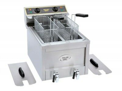 Roller Grill RFE8D Double Tank High Powered Countertop Modular Fryer (Boxed New)