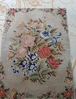 Fine detailed antique floral tapestry