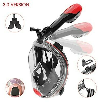 51620d3cc Full Face Snorkel Mask - Patent Nose Equalizer   Foldable Tube Easy Breath  - -