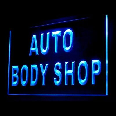 120046 Auto Body Shop Repair Washing Polishing Cleaning Service LED Light Sign