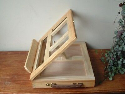 Lightweight Portable Wooden Artists Tabletop Easel with pullout drawer. Unused.