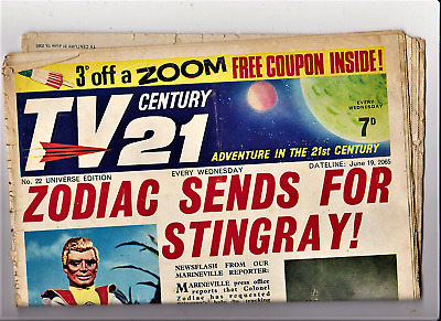 TV CENTURY 21 # 22 June 19 1965/2065 Stingray/Daleks/Fireball xl5/Lady Penelope