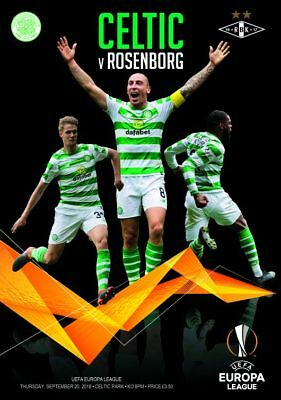 CELTIC v ROSENBORG BK 20/9/2018  OFFICIAL  PROGRAMME
