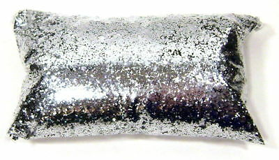 "6oz / 177ml Chrome Silver Metal Flake .025"" Paint Additive Retro Metallic Flakes"