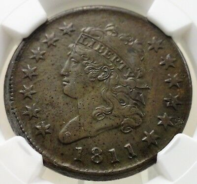 1811 large cent classic head, NGC VF details, 4689112-004