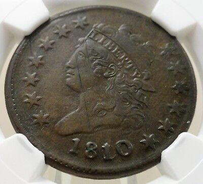 1810 large cent classic head, NGC XF details, 4689112-002