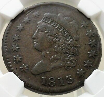 1813 large cent classic head, NGC XF details, 4689112-005