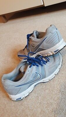 MensNike Air Retaliate 2trainers grey with blue laces size UK 8.5