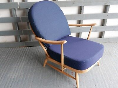 Cushions & Covers Only. Ercol 203 Chair.  92% Blue Wool