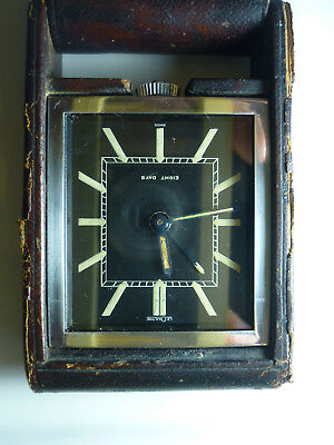 Art Deco - Lecoultre 8-Day Travel Alarm Watch - 1940 - Perfect Working
