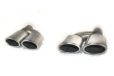 Cartuner Tail Pipes Exhaust End AMG Look for Mercedes Benz C-Class W204 W203