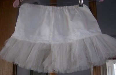 Vintage child's half slip, cotton, lace, bottom 3 layers of crinoline