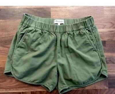Madewell Pull On Shorts Green Pockets XSmall