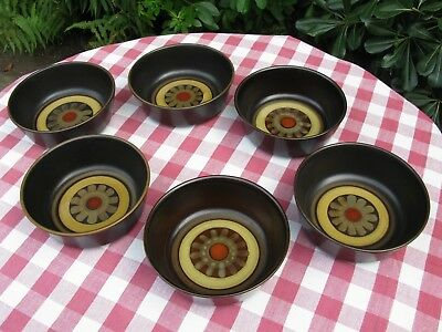 """Superb Denby Arabesque, 6 x 6"""" Bowls - Unused - Much Available"""