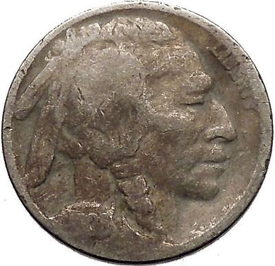 1928 BUFFALO NICKEL 5 Cents of United States of America USA Antique Coin i43705