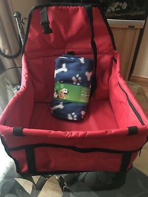 Folding Pet Car Seat Safe Travel Carrier Kennel Puppy With New  Free Blanket