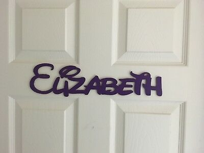 disney style personalized wooden name plaquesletterspainted made in usa